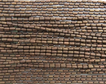 4x2mm (0.5mm hole) Aged Solid Brass Metal Cornerless Cube Beads - 24 Inch Strand (BW402)