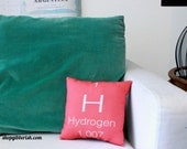 Hydrogen Periodic Table Science Pillow - Science Chemistry - hydrogen, oxygen, carbon, or sulphur