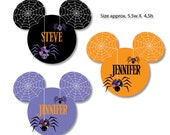 Spider Web Mouse Head Magnets for Halloween Disney Cruise Vacation