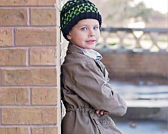 Two tone Crochet hat/ Two tone crochet beanie/Crochet hat/baby beanie/baby hat/Newborn photo prop/Crochet baby beanie/ (Ready to Ship)