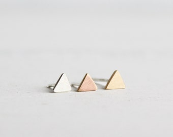 Tragus earring, Triangle Tragus 4mm earring, Obtuse triangle earring, minimalist earring, tiny triangle stud, hapagirls, handmade earrings