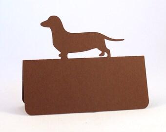 Dog Place Cards Dog Set of 50 Dachshund Wedding Custom Dog