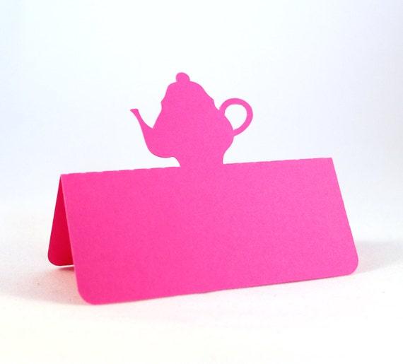 Teapot Place Cards Set of 50 Tea Party