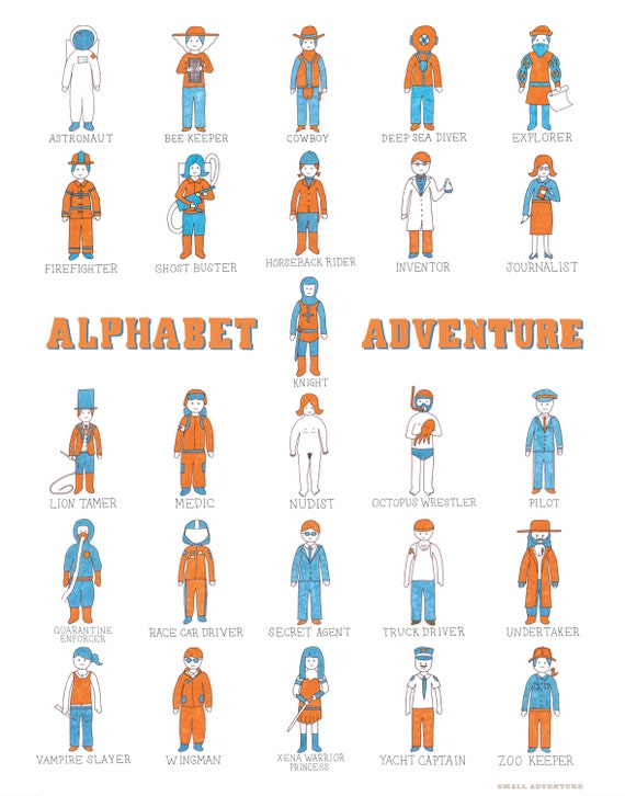 Alphabet Adventure Print