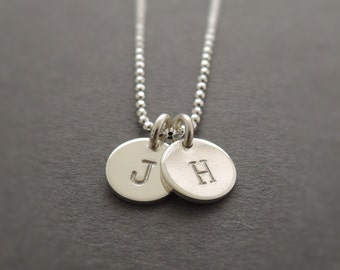 Initial Necklace mothers day gift personalized bridesmaid necklace stamped charm necklace for mum sister best friend wife grandmother