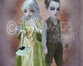 Vampire Art - Gothic Print - We Were Once Friends