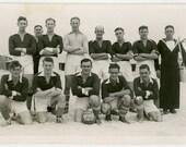 1942 HMS Grebe Football Team - British Navy - snapshot 635-A