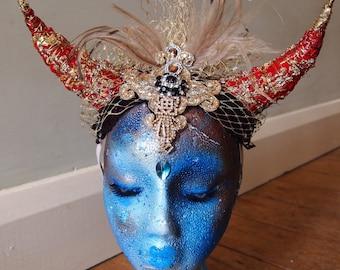 Devil Horns Headdress Headpiece Festival Costume Party
