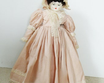 Collectible China Doll, vintage collectible doll