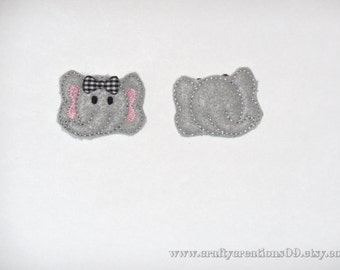 "Embroidered Felties (Set of 4)- ""Elephant""   RTS"