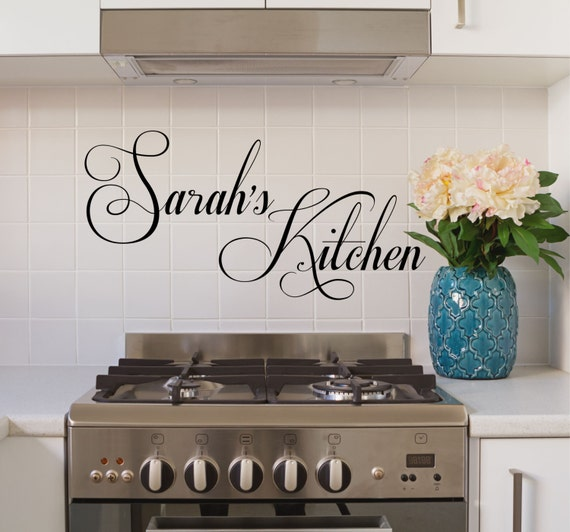 Name In Lights Wall Decor : Kitchen Wall Decals Decals kitchen quotes kitchen by DecorDesigns