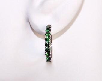Tsavorite Garnet Earrings, Tsavorite Garnet, Green Garnet, Garnet/Appraisal Included