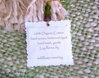 Organic Cotton Handwoven Baby Blanket - Celery Leaf Green