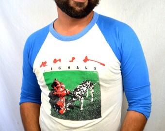 Vintage Rush 1982 1983 Raglan Concert Tee Shirt - Tshirt Tee Shirt