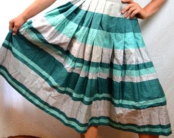 Vintage 1950s Star of Siam Silk Skirt