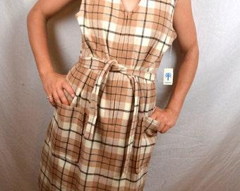 Vintage John Meyer Plaid Wool Fall Jumper Dress - NWT