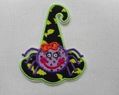 Free Shipping Ready to Ship Witch Hat Fabric Iron on applique