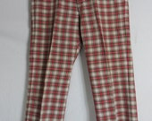 "Vintage 60s 1960s Mens Izod Plaid Pants Trousers 34"" W 31"" L"