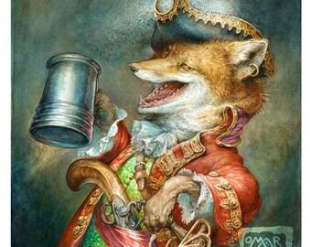 Tavern Fox (print)