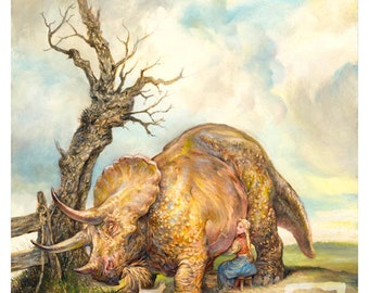 Milking the Triceratops (print)