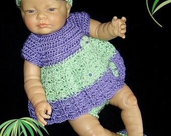 Crochet Dress Set; Crochet Newborn Set; Crochet Baby Clothes; Crochet Baby Outfit; Crochet Baby Dress; Crochet Diaper Set; Crochet for Baby