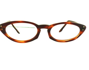 Cats Eye Pin Up 1950s Eyeglasses  Tortoiseshell, Harlequin / USA