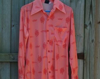 70's Pink Pomegranate Shirt (L)