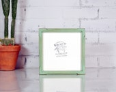 "8x8"" Square Picture Frame in Deep Bones Canvas Depth Style and in Finish COLOR of YOUR CHOICE - 8x8 Photo Frame"