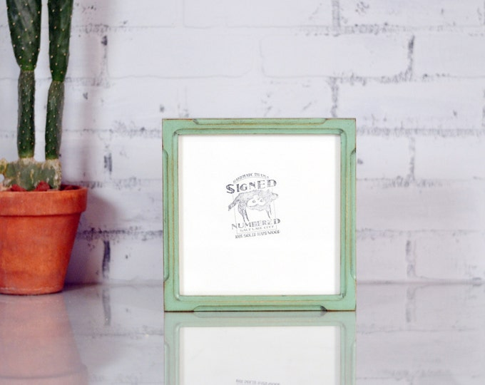 8x8 square picture frame in deep bones canvas depth style and in finish color of