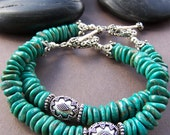 Sydney Turquoise Bracelet - (One) Natural Turquoise with Sterling Silver