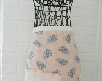 Ladies Half Apron made from Vintage details