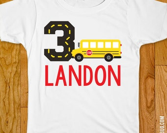 School Bus Party Iron-On Shirt Design - Choose child or onesie size
