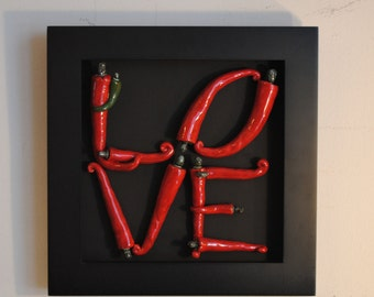 Red Hot Love Ceramic Chili Peppers (Small)