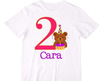 Personalized Party Bear Birthday Shirt or Bodysuit - Personalized with ANY Name and Age