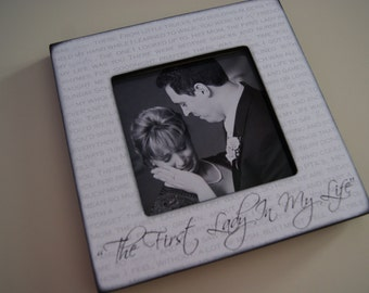 Mother of the Groom Gift, Personalized Lyric Picture Frame, Parents Thank You Gift