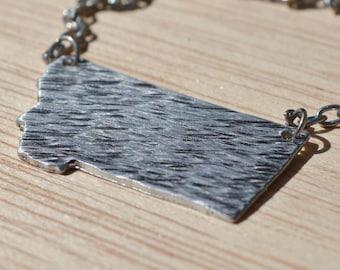 textured aluminum Montana necklace