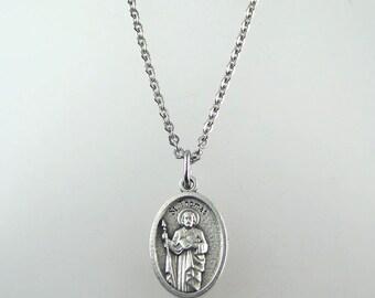 Saint Thomas the Apostle Medal Necklace