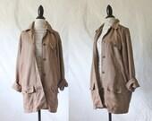 Vintage Oversized Khaki Boyfriend Jacket