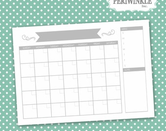 Dry Erase Calendar Printable-Choose Your Size-Print-Perpetual Calendar-Multiple Sizes Available