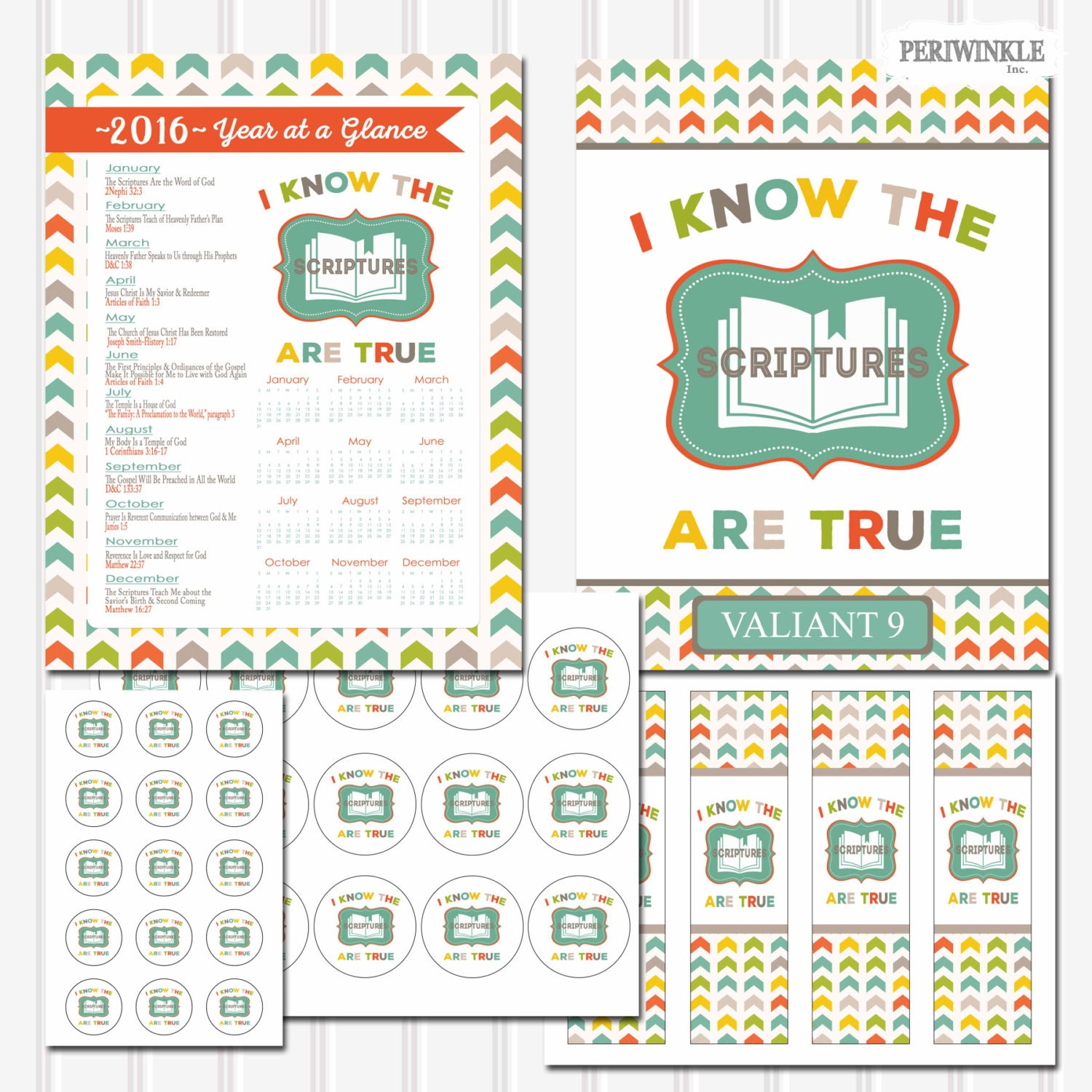 2016 LDS Primary Theme-I Know the Scriptures are by periwinkleinc