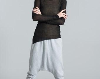 Harem Pants / Drop Crotch Pants / Stylish Sweat Pants / Black Pants / Loose Pants / Yoga Pants / marcellamoda -  MP372