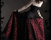 Acanthe Gothic Romantic Lace and Satin Skirt - Hand Made by Rose Mortem - Dark Romantic Couture and Fairy Tale Dresses
