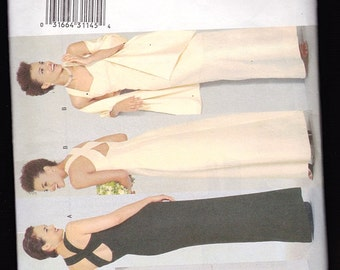 Butterick 6463 Misses Close Fitting Evening Dress and Stole