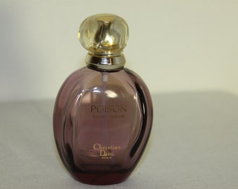 Sale Christian Dior POISON Perfume Bottle Paris Purple Glass Plastic Top 100 ml size Empty Bottle only