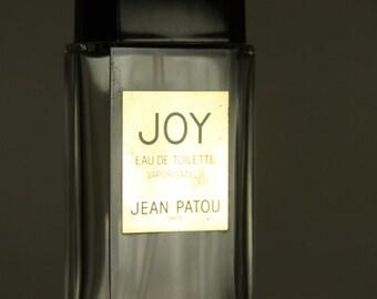 Jean Patou JOY Perfume Bottle Paris Clear Glass Plastic Atomizer 90 ml size Empty Bottle only