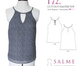 PDF Sewing pattern - Cut out halter top