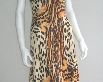 60s 70s vtg slinky dress