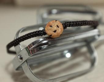 Chocolate Chip Cookie Macrame Bracelet