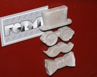 Concrete Top Hat Gentleman Magnets - Set of 4