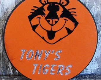 Tony's Tigers pin from Tony the Tiger cereal